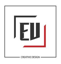 initial letter ev logo template design vector image