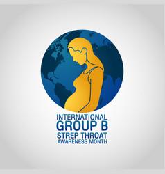 International group b strep throat awareness vector
