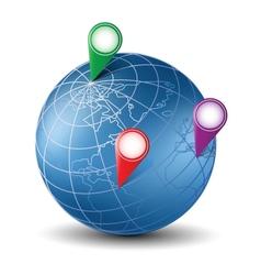 Isometric globe vector image