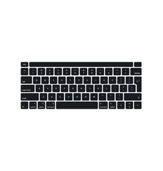 Keyboard computer laptop modern key buttons vector