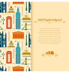Landmarks of United Kingdom background vector image