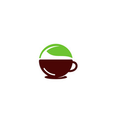 leaf coffee logo icon design vector image