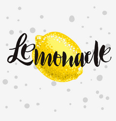 lemonade rough traced custom artistic handwritte vector image
