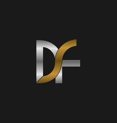 letter df loop modern logo design vector image