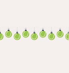 merry christmas bowling seamless horizontal vector image