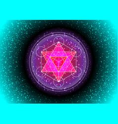 Metatrons cube flower life sacred geometry vector
