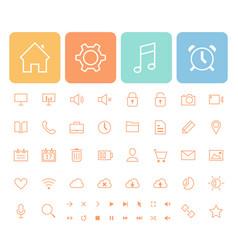 minimalistic icons set vector image