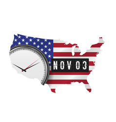 November 3 counter with american flag map vector