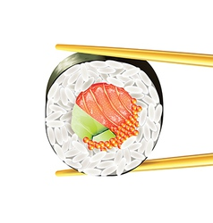 object sushi sticks vector image