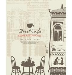 outdoor cafe menu vector image