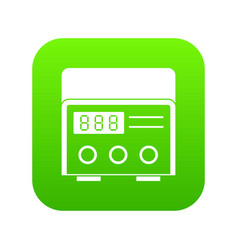 Professional tattoo machine icon digital green vector
