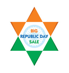 republic day sale banner design vector image