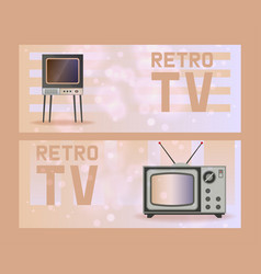 retro tv old tv-broadcast vintage vector image
