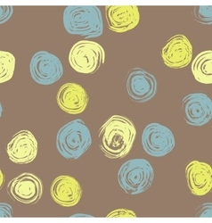 Seamless pattern with hand drawn grunge circles vector
