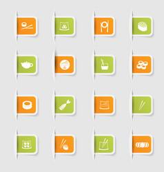 set a collection unique paper stickers vector image