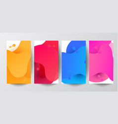 set of fluid abstract shapes composition banners vector image