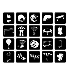 Set of Sport Accessory Icons on White Background vector image