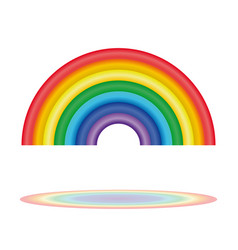 Seven colors of the rainbow rainbow icon vector