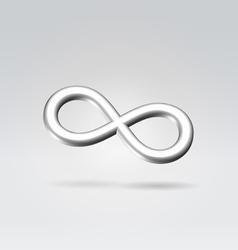silver infinity metal symbol vector image