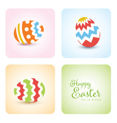 simple easter card vector image