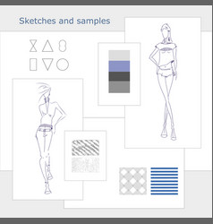 Sketches-samples vector