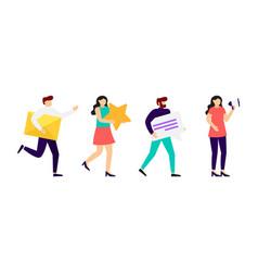 social media marketing communication people vector image