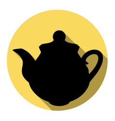 tea maker kitchen sign flat black icon vector image