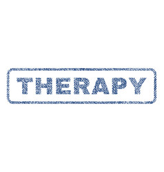 therapy textile stamp vector image