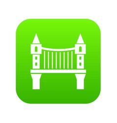 tower bridge icon green vector image