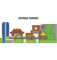 Vietnam reno danang city skyline architecture vector