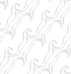 White striped curved lines and swirls seamless vector