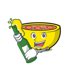 With beer soup union mascot cartoon vector