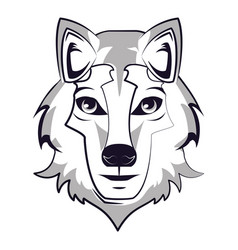 Wolf face cool sketch vector