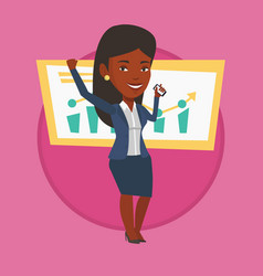 Woman celebrating business success vector