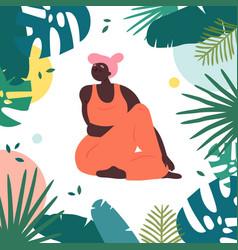 woman in upavistha parivrttasana asana yoga pose vector image