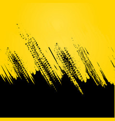 yellow tire track wallpaper vector image