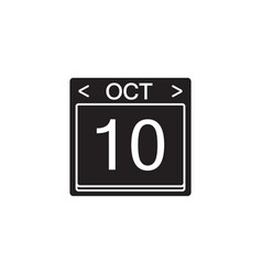 Calendar solid icon modern sign for mobile vector
