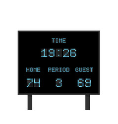 digital electronic board with football or vector image