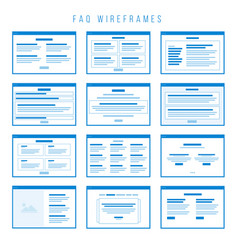 faq wireframe components for building prototypes vector image vector image