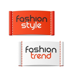 Fashion style and Fashion trend clothing labels vector image vector image