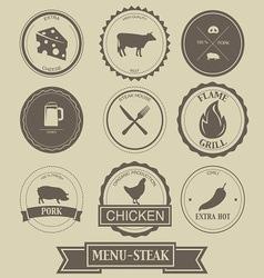 Menu Steak Label Design vector image vector image