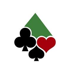 Poker Casino Logo 380x400 vector image vector image