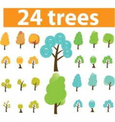 trees cute signs vector vector image vector image