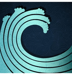 Big Wave vector image