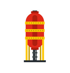 capacity for oil storage icon flat style vector image vector image