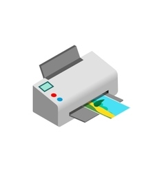 Color photo printer icon isometric 3d style vector image vector image