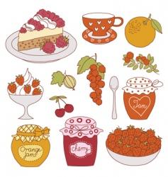 fruit dessert vector image vector image