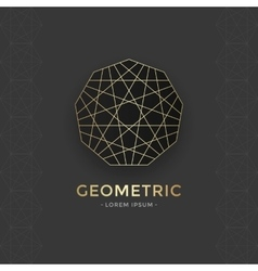 Geometric sacred symbol vector image vector image