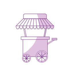 Silhouette fast food car with delicious meal vector