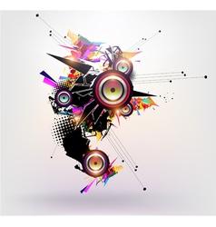 Speakers design vector